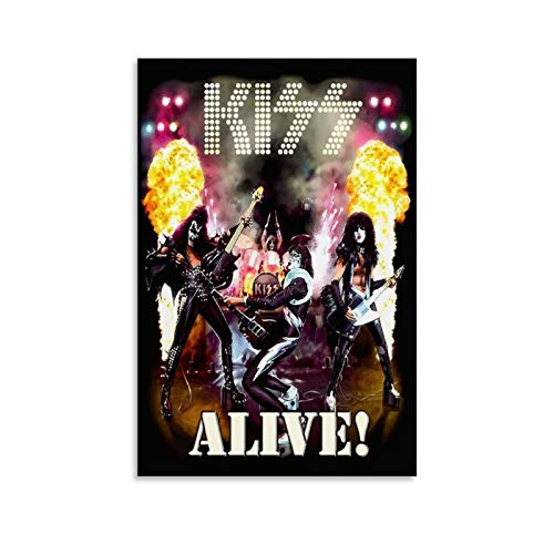 HENGQ Rock Roll Team Kiss Alive Poster Poster Decorative Painting Canvas Wall Art Living Room Posters Bedroom Painting 24x36inch(60x90cm)