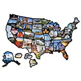 EVERSTRONG RV State Sticker Travel Map for Motorhome Travel Trailer Accessories State Stickers - Camper Decals for Outdoor and Indoor - 21 by 15 Inches RV Decals, US RV Sticker Map
