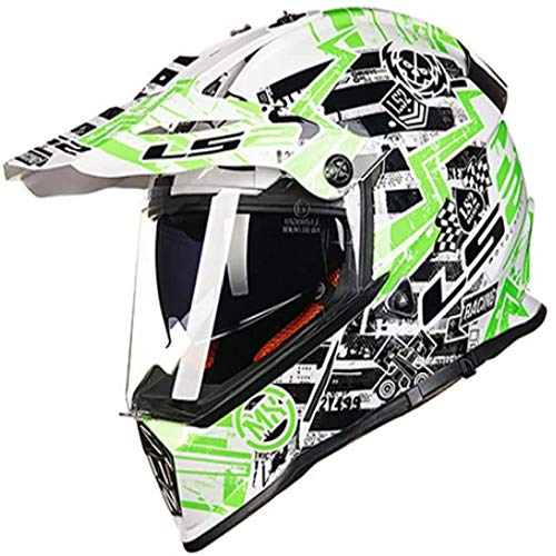 ZHXH Jugend Motocross Helm, Mountainbike Helm Straße Vier Jahreszeiten Kreuzfahrthelm Street Scooter City Reiten Integral Helm Punkt genehmigt,