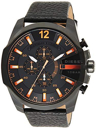 Diesel - DZ4291 - Montre Homme - Quartz Chronographe - Chronomètre - Bracelet Cuir Noir