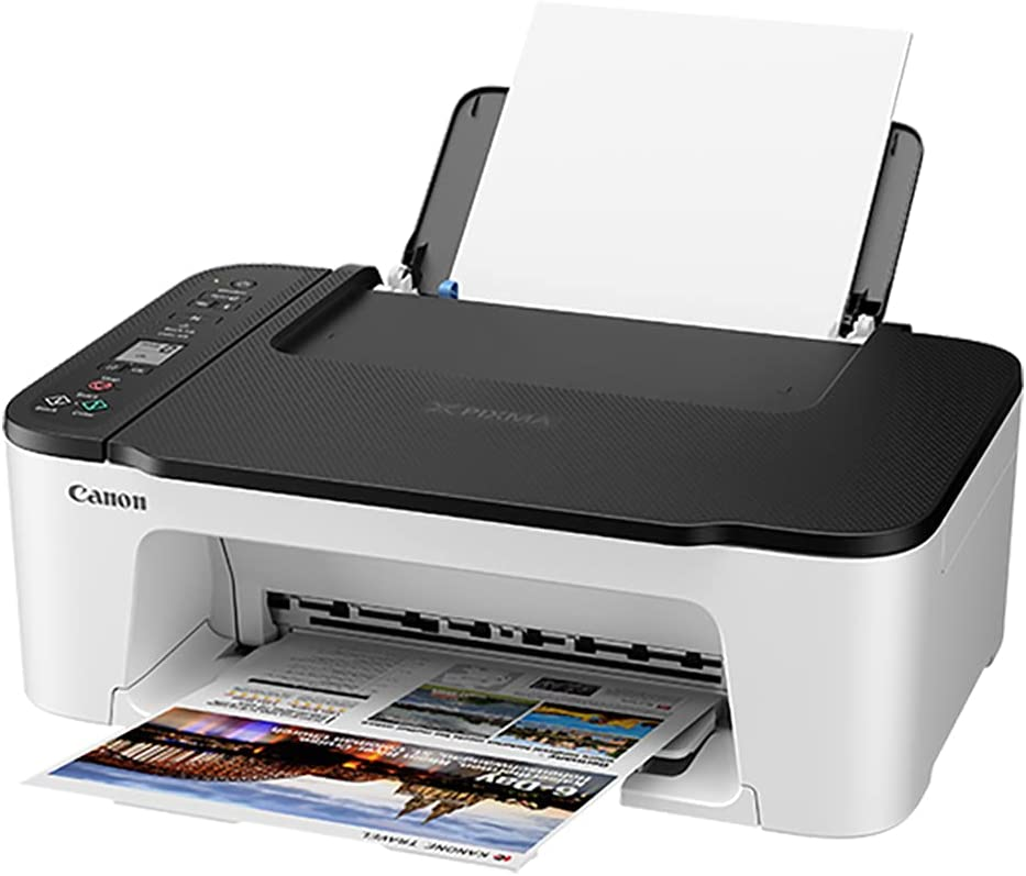 Canon PIXMA TS Series Wireless All-in-One Color Inkjet Printer, White - Print, Scan, Copy - 4800 x 1200 dpi, Borderless Printing