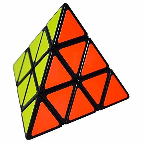 LSMY Pyraminx 3x3 Puzzle Cubo, Toy Negro