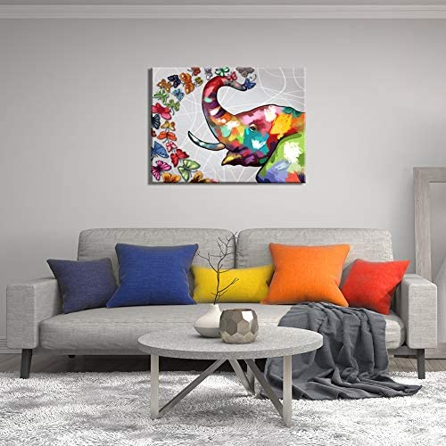 Colorful elephant paintings _image2
