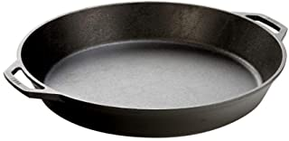 Lodge Seasoned Cast Iron Skillet with 2 Loop Handles - 17 Inch Ergonomic Frying Pan