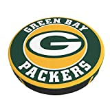 YAMIKE Green Bay Football Packer Bar Stool Cushions,Memory Foam Bar Stool Covers Round Removable Washable Cushion with Non-Slip Backing and Elastic Band 14 Inch