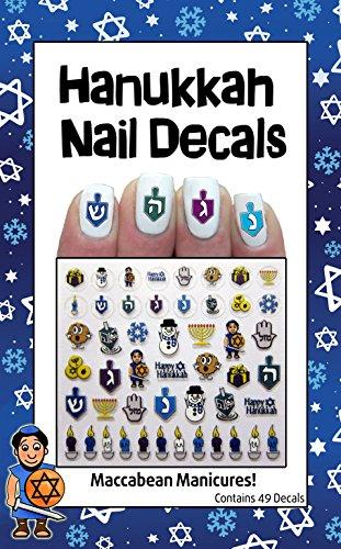 Midrash Manicures Hanukkah Nail Decals by Midrash Manicures