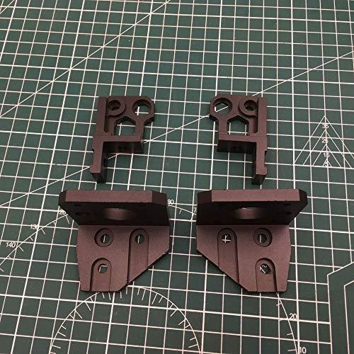 XBaofu 1set for anodizzato Nero in Alluminio Prusa I3 MK3 Orso ASSE Z Sinistra/Destra Supporti Motore in Basso Z in Alto a Destra/Sinistra Upgrade Kit