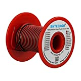 BNTECHGO 28 Gauge Silicone Wire Spool Red And Black Each 50ft 2 Separate Wires Flexible 28 AWG Stranded Copper Wire