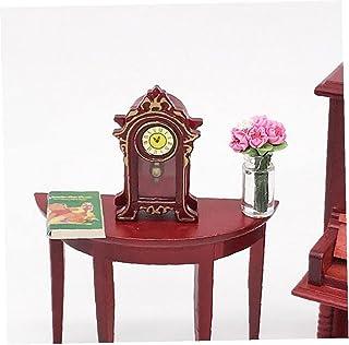 1:12 Dollhouse Tillbehör Miniatyr Klassisk Plast Skrivbord Klocka Klassisk Leksaker Klocka Modell Doll Hus Dekoration Kids...