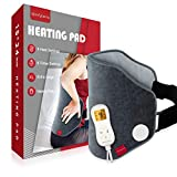 Upgraded Heating Pad for Back Pain Relief, Comfytemp XL Electric Heated Back Wrap with Strap, 9 Heat Settings, 5 Auto-Off, Stay On, Backlight for Cramps, Waist, Lumbar, Abdomen, 15'x 24' - Washable