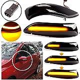Mkptopia 1 par de luces LED de espejo retrovisor de ala lateral dinámica para Mercedes para Benz Clase A W169 2004-2008, Clase B W245 2004 2005-2008