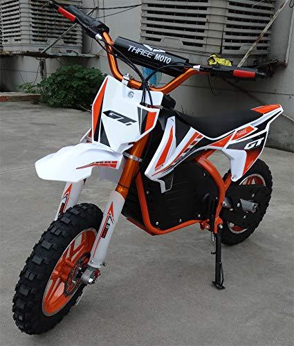Mini moto para niños electrica - Mini pit bike con motor de 350w, baterias de 24V y 12ah. Niños/as de 5 a 12 años. PITBIKE (NARANJA)