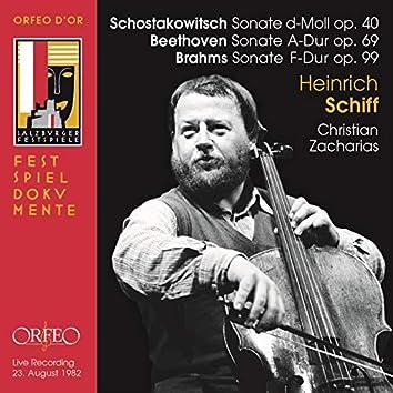 Beethoven, Brahms & Shostakovich: Cello Sonatas (Live)