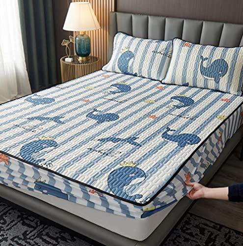 XLMHZP - Set di biancheria da letto in raso, alla moda, ricamata, lenzuolo con angoli, per bambine, copri materasso per letto matrimoniale e king size, 200 cm + 20 cm (3 pezzi)