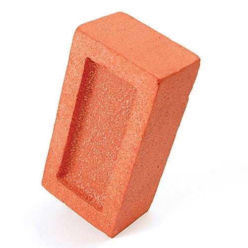 Bristol Novelty GJ386 Fake Brick Practical Joke Set, Orange, One Size