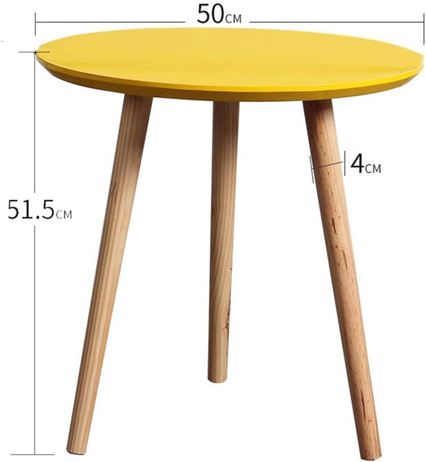 ZHAOYONGLI Tables,Coffee Tables Coffee Tables Nesting Coffees End Tables Modern Decor Side Table Triangle Occasional Stand Tea Table for Living Room Home and Office (color   50  51.5CM Yellow)