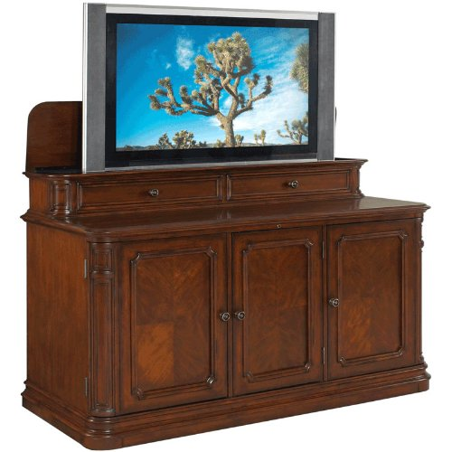 TV Lift Cabinet for 40-60 inch Flat Screens (Stained) AT004310
