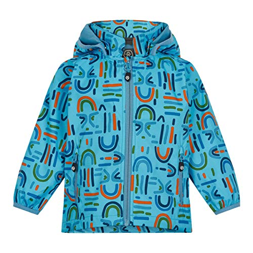 Color Kids Boys Softshell Jacke with Print Shell Jacket, Blue Fish, 86