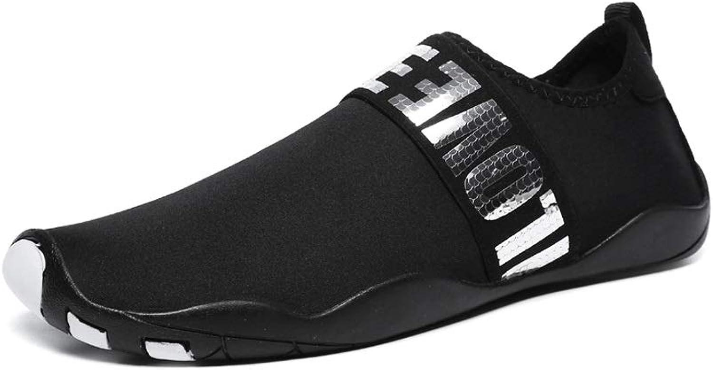 Ailj Wasserschuhe, Weiche Schuhe Für Mnnliche Und Weibliche Barfüige, Rutschfeste Yoga-Schuhe Schnell Trocknende Tauchschuhe 2 Farben