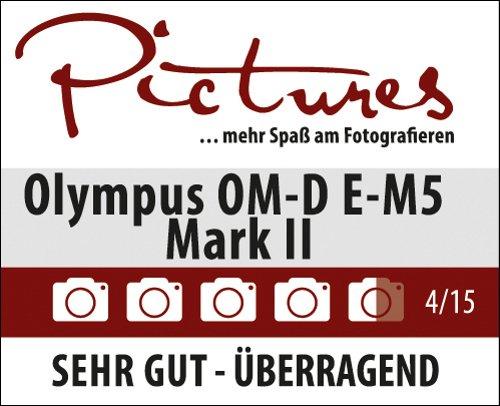 Olympus OM-D E-M5 Mark II Micro Four Thirds Systemkamera, 16.1 Megapixel, 5-Achsen Bildstabilisator, elektronischer Sucher, silber