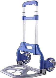 STC / Inicio turcks Carretilla Plegable, Estructura de la aleación de Aluminio de la Carretilla (Color : Azul)