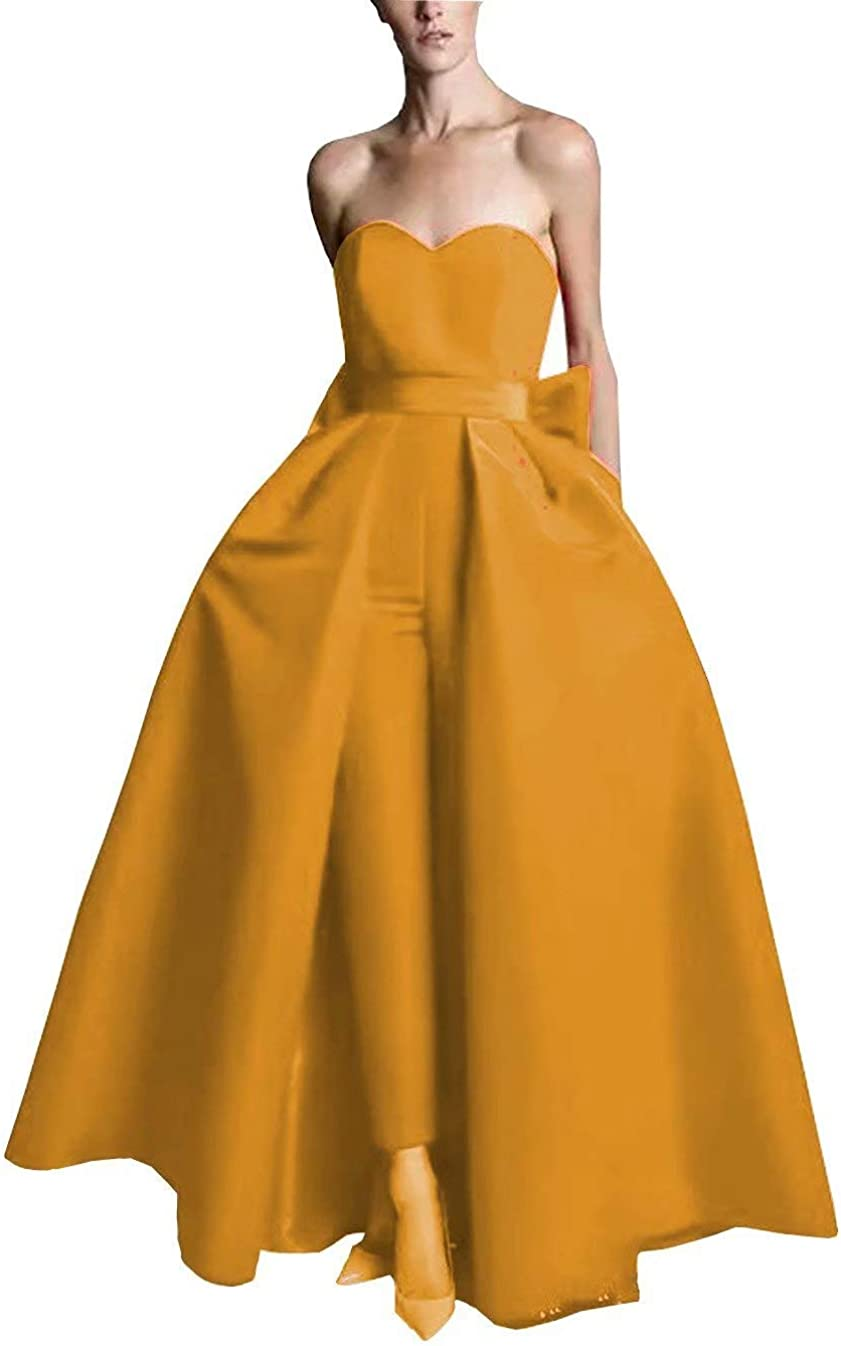 Women Jumpsuit Off The Shoulder Long Evening Dresses2021 Sleeveless Long Floor Length Formal Dress