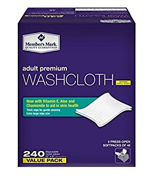 Simply Right Member s Mark Adult Wash-Cloths 240 Count
