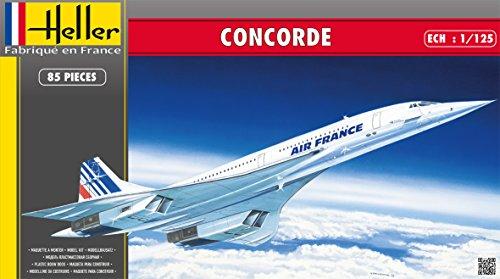 Heller 80445 - Modellino da Costruire, Aereo Concorde, Scala 1:125 [Importato da Francia]