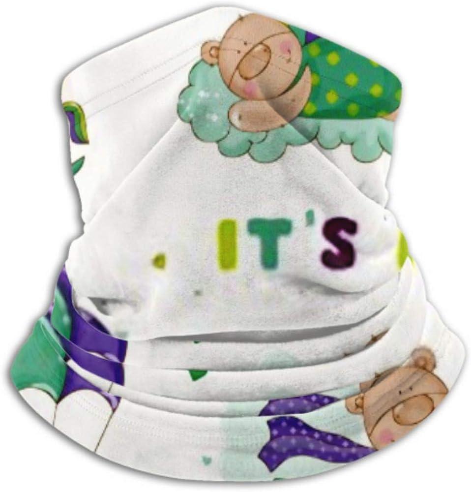 Fleece Neck Warmer ,multifunctional Cute Bear Set Baby Shower Arrival Scarf,Neck Gaiter, Neck Cap, Neck Scarf, Balaclava, Headwear, Bandana,
