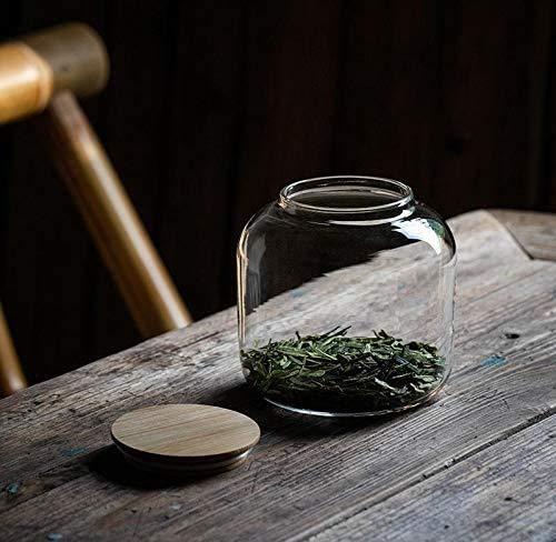 Vorratsgläser mit Deckel Tee Caddy Glas Tee Kaffee Zucker Vorratsgläser Set - Mehrzweck-Lebensmittellagerung
