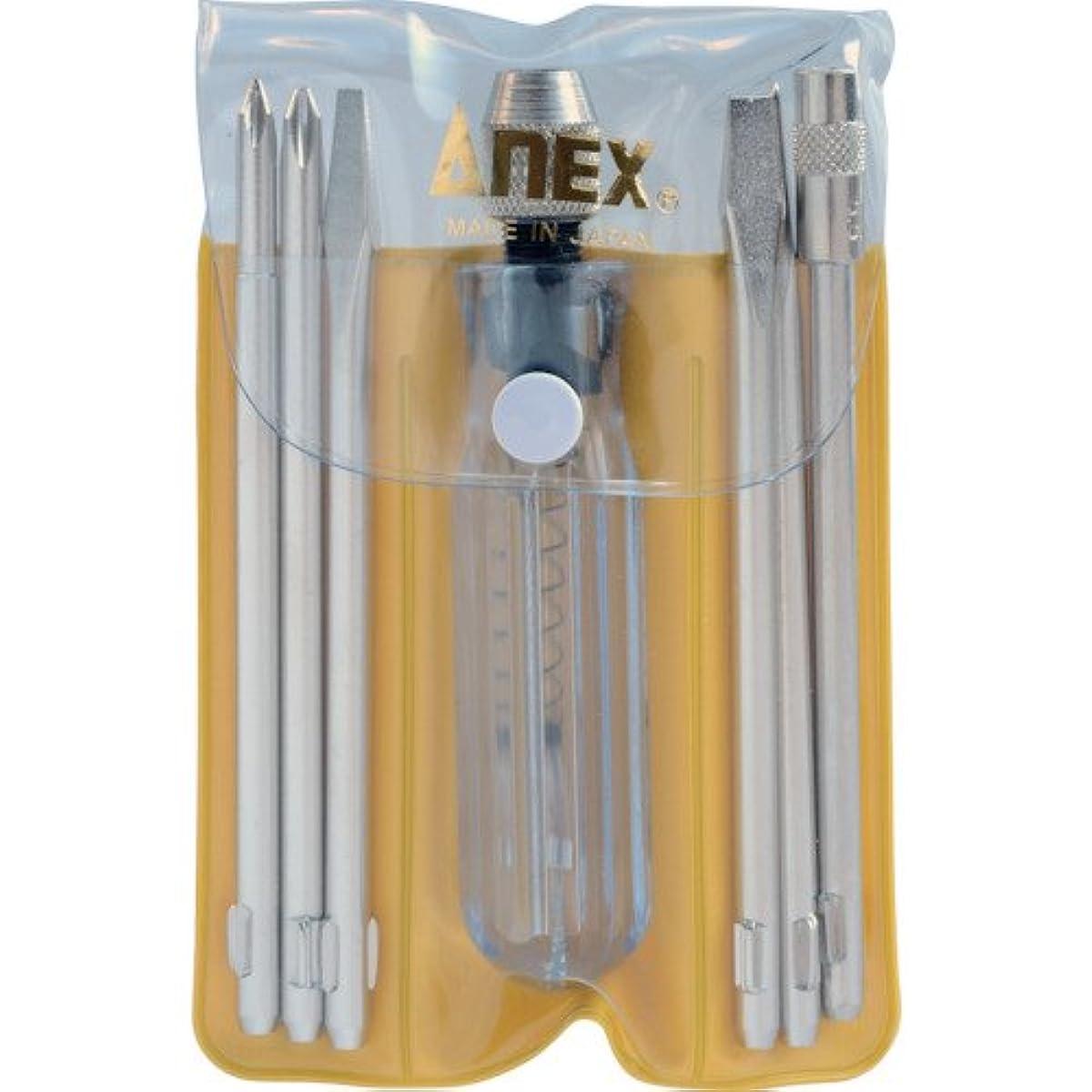 宿る汚物勇気のあるアネックス(ANEX) 検電ドライバーセット 低圧 ブリスターパック 6本組 No.1095-L