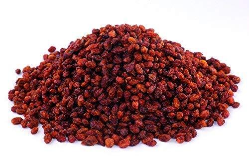 Bio Sanddorn Beeren 250g sonnen-getrocknete ganze Früchte (Fruchtfleisch mit Kern) auch für Tee, extra gereinigt, aus Wildsammlung, ungesüßt, Rohkost