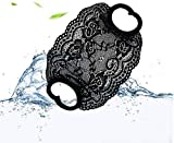nobrand 5pcs Veil face Towel Female Thin Section, Sun Protection and dustproof, net red Fashion Goddess lace Veil Thin Section (Black)