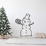 wZUN Feliz muñeco de Nieve y Regalo calcomanía de Pared Pegatina de Navidad decoración de Arte de Pared de Sala de Estar Familiar 57X68cm
