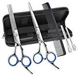Hairdresser Scissors Set, Professional Hair Cutting Scissors and Hairdressing Thinning Scissors for Salon