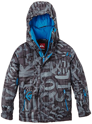 Quiksilver Jungen Snowboard Jacke Mission Printed Y, The Line Asphalt, M