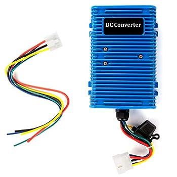 Roykaw Golf Cart Voltage Reducer Regulator Converter 36/48V to 12V for E-Z-GO Club Car  30A/360W