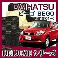 【DELUXEシリーズ】DAIHATSU ダイハツ ビーゴ BEGO フロアマット カーマット 自動車マット カーペット 車マット(H18.01~、J210G) 4WD オスカーグレーレッド ab-da-bego-18j210g4wd-delord