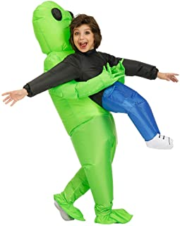 Kooy Inflatable Alien Costume Inflatable Halloween Party Costumes Blow up Fancy Dress Adult And Kids Costumes