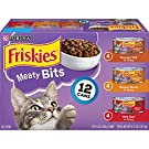 Purina Friskies Gravy Wet Cat Food Variety Pack; Meaty Bits - (2 Packs of 12) 5.5 oz. Cans