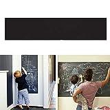 demiawaking lavagna adesivo da parete rimovibile adesivi murali in vinile per graffiti di disegno per bambini lavagna autoadesiva per muro per scuola/ufficio/casa 45 x 200 cm
