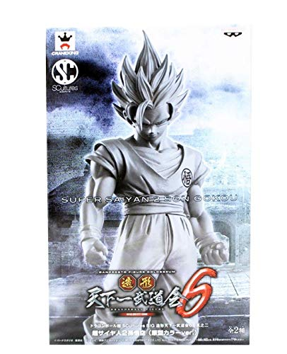 "Banpresto Dragonball Z Scultures Super Saiyan 2 Goku- Gokou- Grey 7"" image"