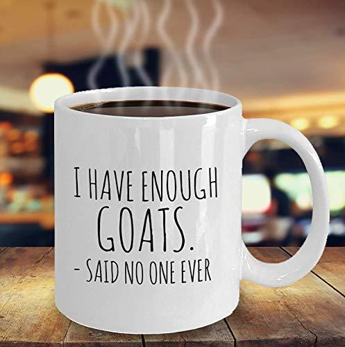 Taza divertida de la cabra Tengo suficientes cabras dijo que nadie nunca Idea de regalo del amante de la cabra Regalo para el dueño de la cabra Amor de las cabras Crazy Goat Lady Goat Mom Mug Tazas de