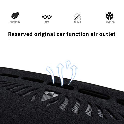 Dashboard Cover Dash Cover Mat Pad Custom Fit for Volvo XC60 2018-2020 Model Set Black Line