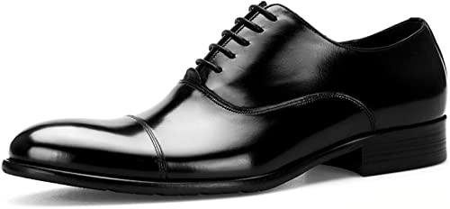 Hommes Travail Travail Travail De Mariage Noir Jaune Rouge en Cuir Véritable Formel d'affaires Chaussure à Lacets Bureau Soirée Soirée Uniformes Chaussures Derby 54f