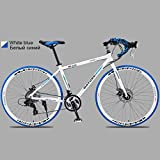 XSLY 700c Aluminum Alloy Road Bike 21 27and30speed Road Bicycle Two-disc Sand Road Bike Ultra-Light Bicycle Portable Adult Variable Speed Dual Disc Brake Cycling Racing (Color : 21 Speed WL)