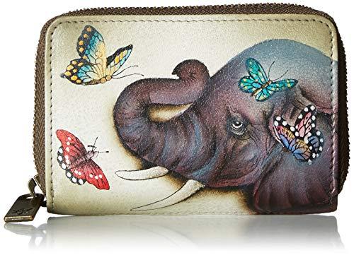 Anuschka Women's Genuine Leather Credit & Business Card Holder - Hand Painted Original Artwork - Gentle Giant -  1110-GTG