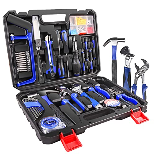 LETTON Werkzeugkoffer Werkzeugsatz Handwerkzeug 100-teilige DIY Home Haushaltshandwerkzeugsatz, Werkzeugsatz für die automatische Reparatur, mit tragbarer Werkzeugkiste Decare (100-teilig)