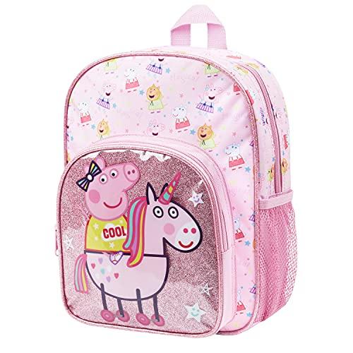 Peppa Pig Mochila Niña, Mochilas Escolares Unicornios para Niñas, Material Escolar para Guarderia Primaria, Regalos Originales Para Niñas