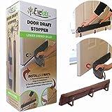 Evelots 2 in 1 Door Draft Stopper, Magnets for Steel Door-Clips for Regular Door